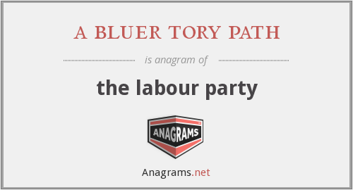 a bluer tory path - the labour party