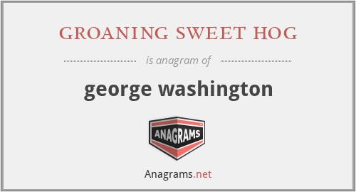 groaning sweet hog - george washington
