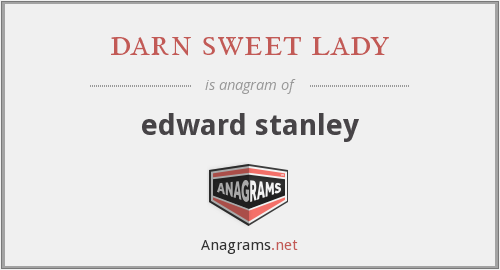 darn sweet lady - edward stanley