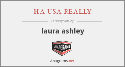 ha usa really - laura ashley