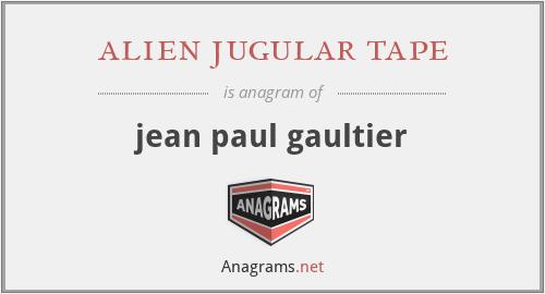 alien jugular tape - jean paul gaultier