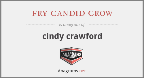 fry candid crow - cindy crawford