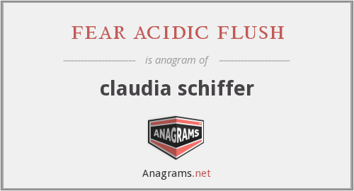 fear acidic flush - claudia schiffer