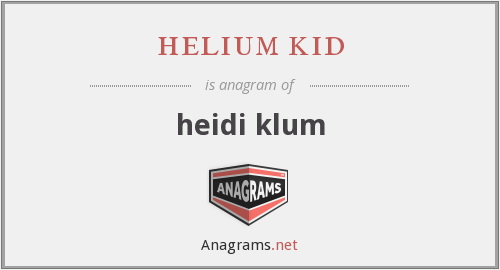 helium kid - heidi klum