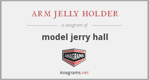 arm jelly holder - model jerry hall
