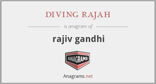 diving rajah - rajiv gandhi