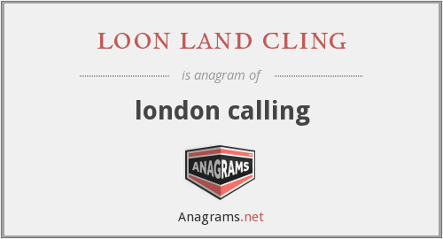 loon land cling - london calling