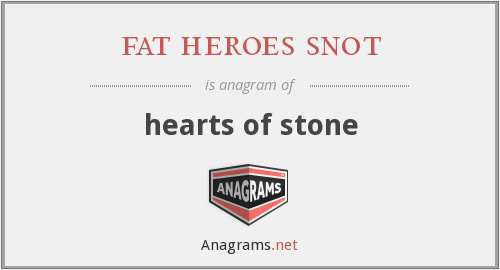 fat heroes snot - hearts of stone