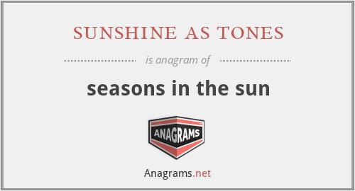 sunshine as tones - seasons in the sun