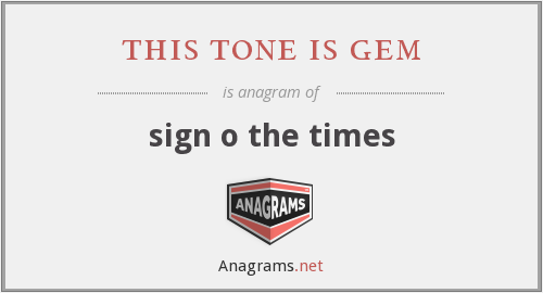 this tone is gem - sign o the times