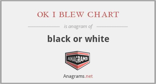 ok i blew chart - black or white