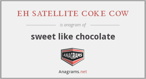 eh satellite coke cow - sweet like chocolate