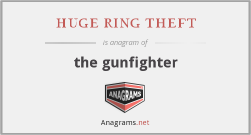 huge ring theft - the gunfighter