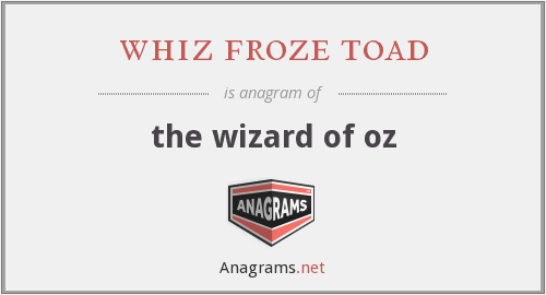whiz froze toad - the wizard of oz