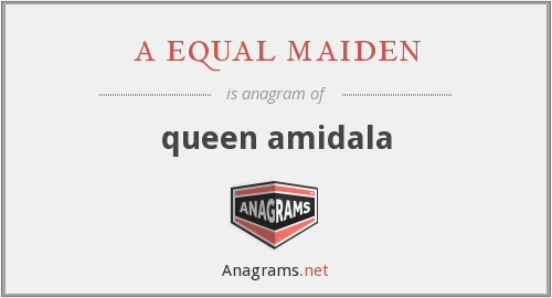 a equal maiden - queen amidala