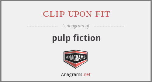 clip upon fit - pulp fiction