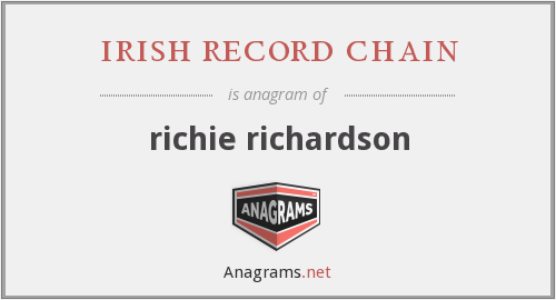 irish record chain - richie richardson