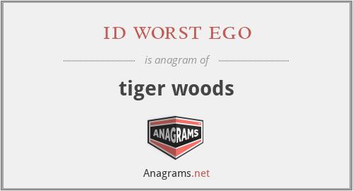 id worst ego - tiger woods
