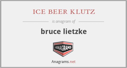 ice beer klutz - bruce lietzke