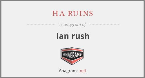 ha ruins - ian rush