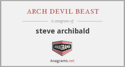 arch devil beast - steve archibald