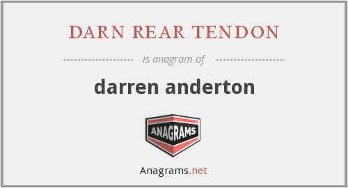 darn rear tendon - darren anderton