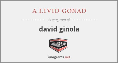 a livid gonad - david ginola