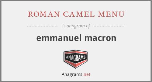 roman camel menu - emmanuel macron