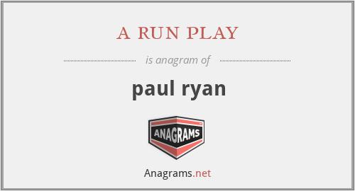 a run play - paul ryan