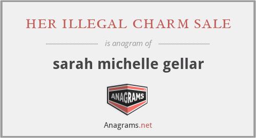 her illegal charm sale - sarah michelle gellar