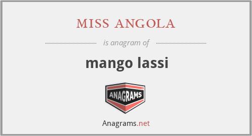 miss angola - mango lassi