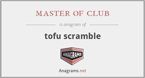 master of club - tofu scramble
