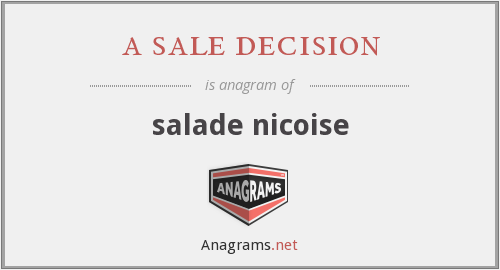 a sale decision - salade nicoise