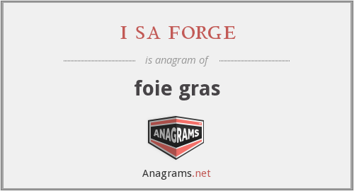 i sa forge - foie gras