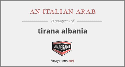 an italian arab - tirana albania
