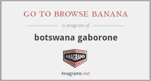 go to browse banana - botswana gaborone
