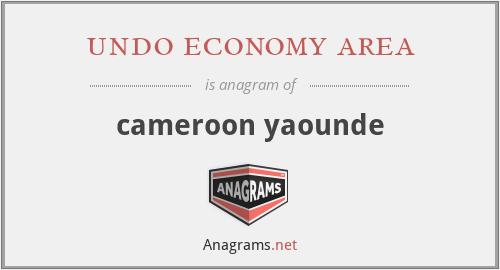 undo economy area - cameroon yaounde