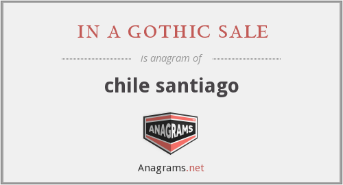 in a gothic sale - chile santiago