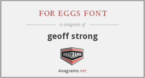 for eggs font - geoff strong