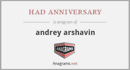 had anniversary - andrey arshavin