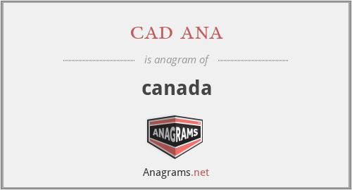 cad ana - canada