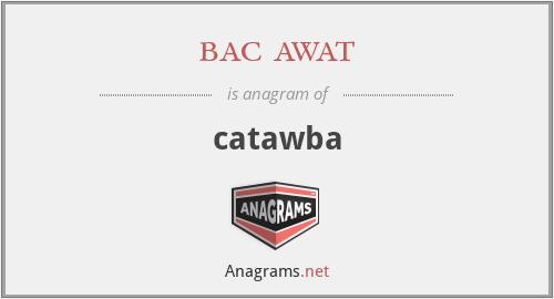 bac awat - catawba