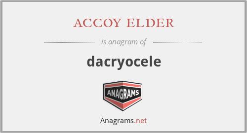 accoy elder - dacryocele