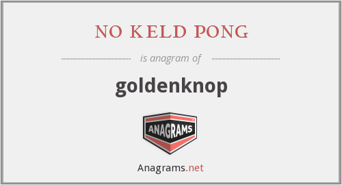 no keld pong - goldenknop