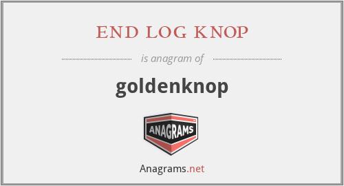 end log knop - goldenknop