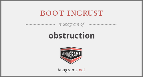 boot incrust - obstruction