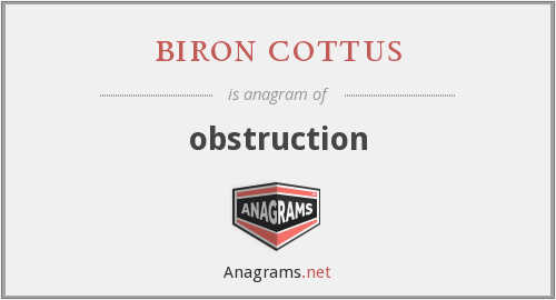biron cottus - obstruction