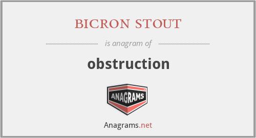 bicron stout - obstruction