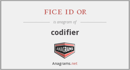 fice id or - codifier