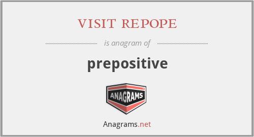 visit repope - prepositive